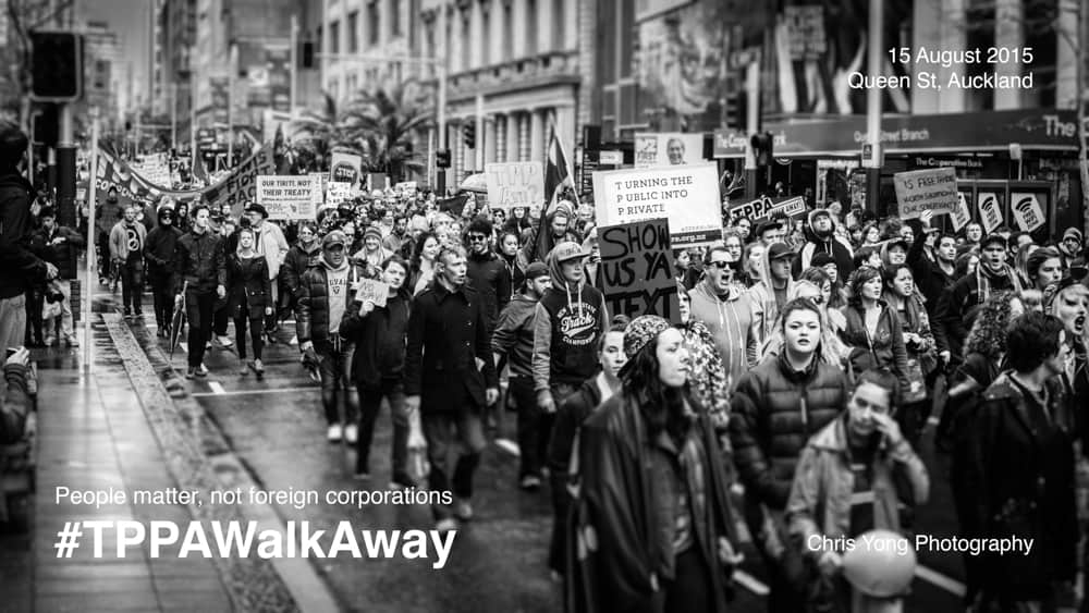 TPPA Walk Away rally - 15 August 2015