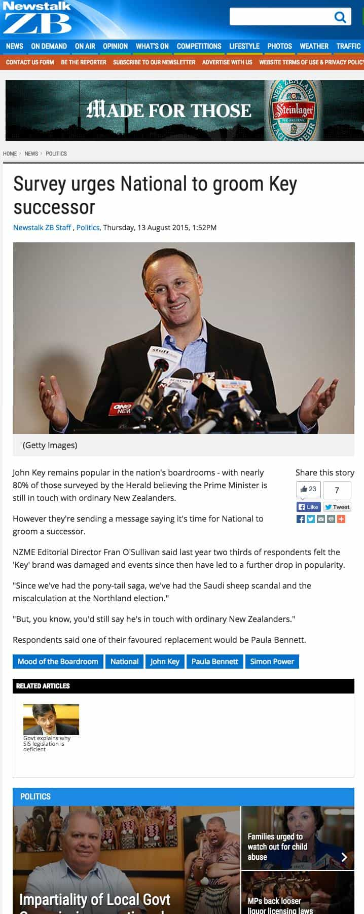 Newstalk ZB John Key news article v2
