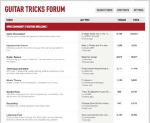 Guitar Tricks Forum